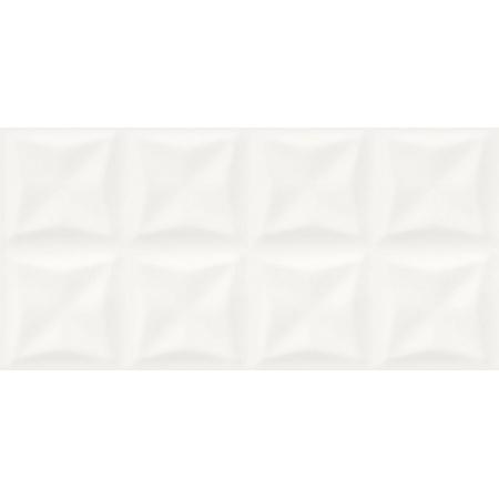 Opoczno Black Glamour White Glossy Origami Structure Płytka ścienna 29x59,3x0,9 cm, biała błyszcząca OP957-003-1