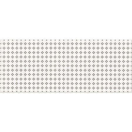 Opoczno Black&White Pattern A Płytka ścienna 20x50x0,9 cm, biała, szara matowa OP399-003-1