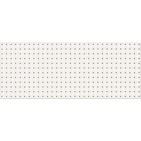 Opoczno Black&White Pattern B Płytka ścienna 20x50x0,9 cm, biała, szara matowa OP399-004-1