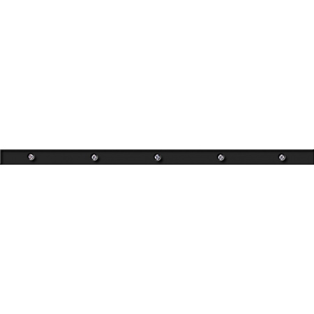 Opoczno Carrara Black Border Glass Listwa dekoracyjna szklana 3x59,3x1 cm, czarna błyszcząca OD001-007