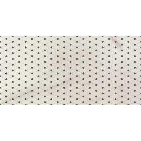Opoczno Carrara White Inserto Classic Listwa dekoracyjna 29x59,3x0,9 cm, szara błyszcząca OD001-004