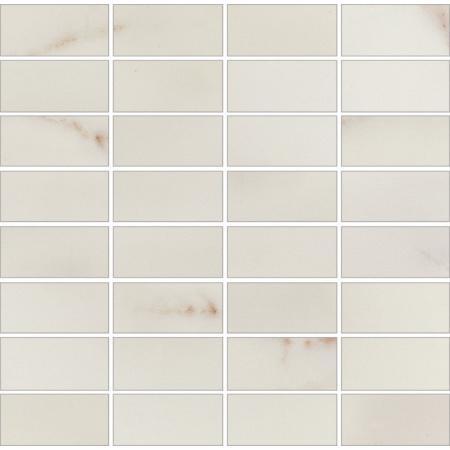 Opoczno Carrara White Mosaic Mozaika 29x29,5x0,9 cm, biała błyszcząca OD001-009