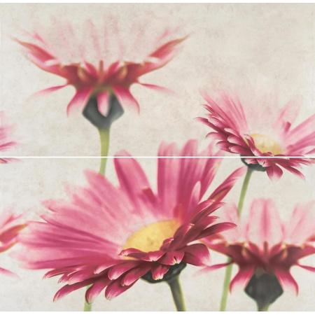 Opoczno Creamy Touch Cream Composition Flower Listwa dekoracyjna 58x59,3x0,9 cm, kremowa matowa OD635-014