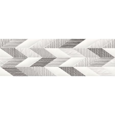 Opoczno French Braid Inserto Wool Listwa dekoracyjna 29x89x1,1 cm, szara matowa ND036-002