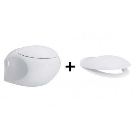 Opoczno High Street Zestaw Muszla klozetowa miska WC podwieszana z deską wolnoopadającą, biała K110-002+K98-0106