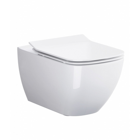 Opoczno Metropolitan Toaleta WC podwieszana 55,5x36 cm CleanOn bez kołnierza z ukrytym mocowaniem, biała K38-014