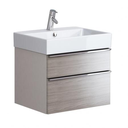 Opoczno Metropolitan Zestaw Umywalka meblowa 60,5x46 cm z szafką podumywalkową, biały/szary dąb OK581-006-BOX+OS581-002