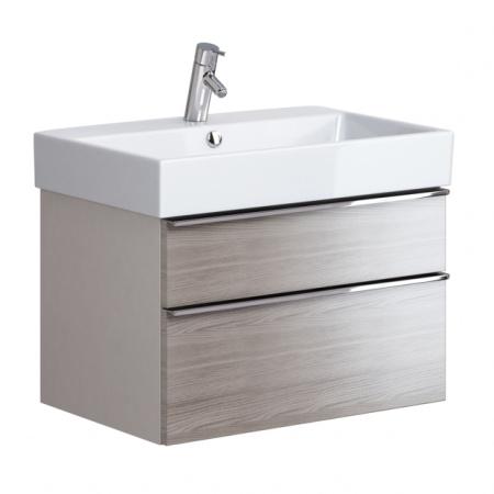 Opoczno Metropolitan Zestaw Umywalka meblowa 71x46,5 cm z szafką podumywalkową, biały/szary dąb OK581-005-BOX+OS581-001