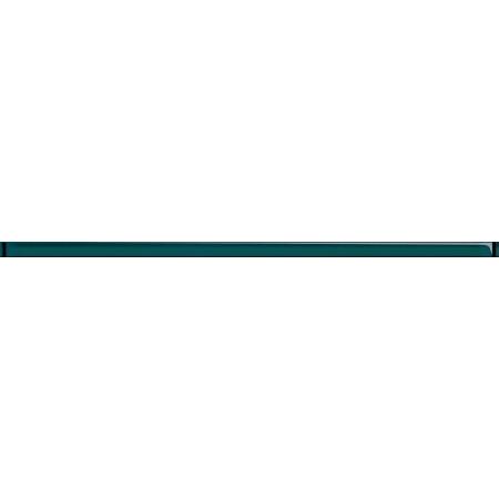 Opoczno Naturale Glass Turquoise Border New Listwa dekoracyjna szklana 2x60x1 cm, turkusowa błyszcząca OD660-020