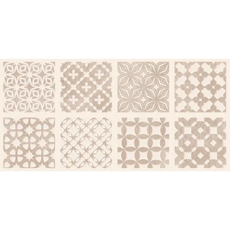 Opoczno Orient Aroma Inserto Patchwork Listwa dekoracyjna 29x59,3x0,9 cm, kawowa błyszcząca OD958-001