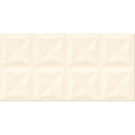 Opoczno Origami Dune Vanilla Glossy Structure Płytka ścienna 29,7x60x0,9 cm, waniliowa błyszcząca OP658-020-1