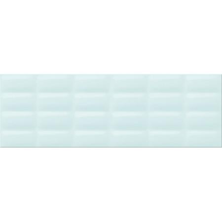 Opoczno Parisen Mint Glossy Pillow Structure Płytka ścienna 25x75x1,05 cm, miętowa zielona błyszcząca OP685-006-1
