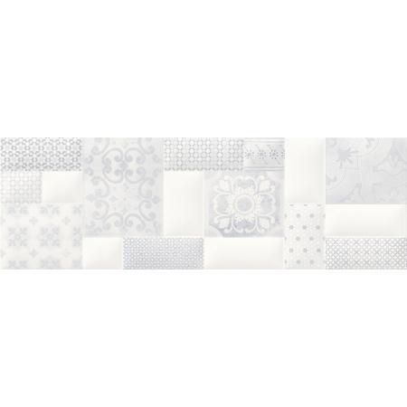 Opoczno Pillow Game Inserto Patchwork Listwa dekoracyjna 29x89x1,1 cm, szara matowa ND038-002