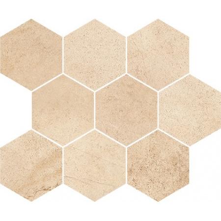Opoczno Sahara Desert Mosaic Hexagon Mozaika 28x33,7x1,1 cm, beżowa matowa OD358-013