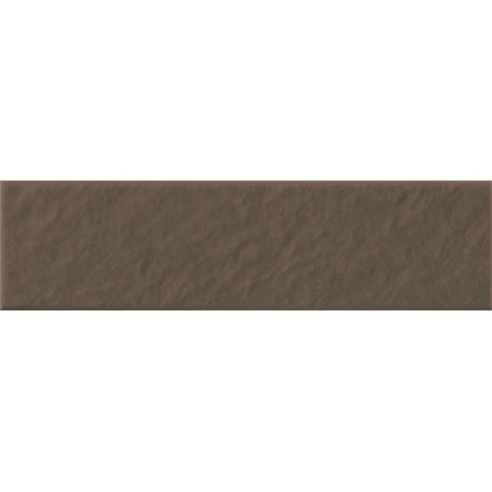 Opoczno Simple Brown Elew 3-D Płytka elewacyjna 6,5x24,5x0,74 cm, brązowa matowa OP078-004-1