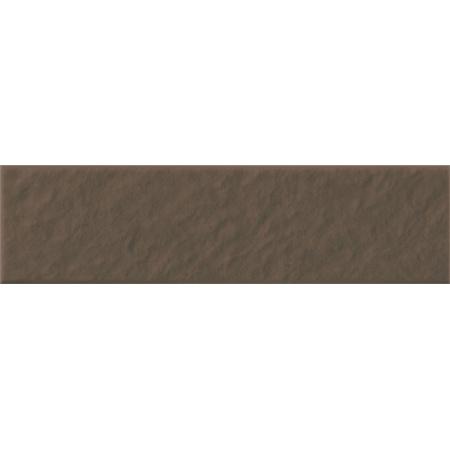 Opoczno Simple Brown Pdstop 3-D Płytka elewacyjna 14,8x30x1,1 cm, brązowa matowa OP078-006-1