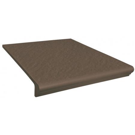 Opoczno Simple Brown Prosty/Kap 3-D Płytka elewacyjna 30x33x1,1 cm, brązowa matowa OD078-040-1
