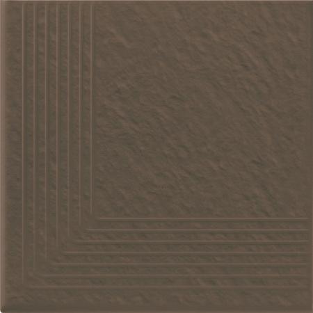 Opoczno Simple Brown Stop Nar 3-D Płytka elewacyjna 30x30x1,1 cm, brązowa matowa OP078-010-1