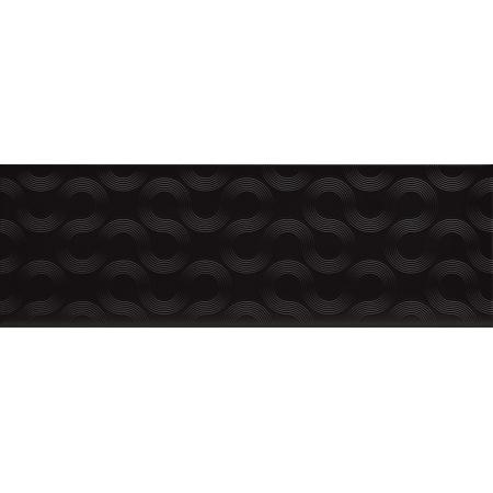 Opoczno Spin Black Geo Płytka ścienna 25x75x1,05 cm, czarna błyszcząca OP431-004-1