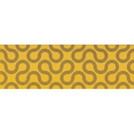 Opoczno Spin Yellow-Black Geo Płytka ścienna 25x75x1,05 cm, żółta błyszcząca OP431-001-1