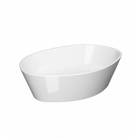 Opoczno Splendour Oval Umywalka nablatowa 52,5x35x15 cm z korkiem ceramicznym, biała K40-004