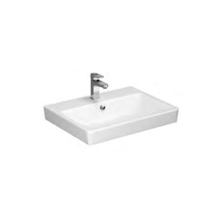 Opoczno Splendour Umywalka meblowa 61,5x46x17 cm z korkiem ceramicznym, biała K40-002