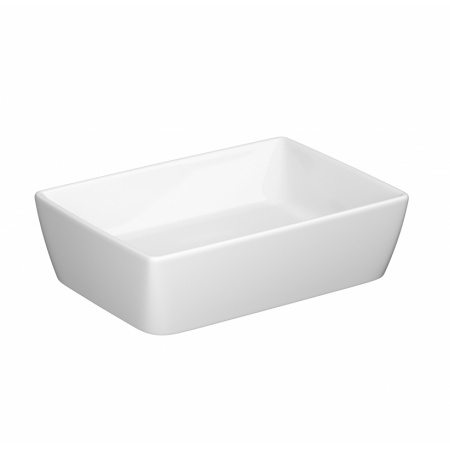Opoczno Splendour Umywalka nablatowa 50,5x35,5x14,5 cm z korkiem ceramicznym, biała K40-006