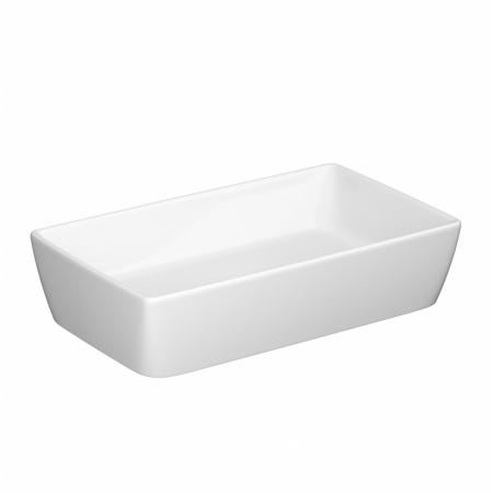 Opoczno Splendour Umywalka nablatowa 60,5x36x14,5 cm z korkiem ceramicznym, biała K40-005