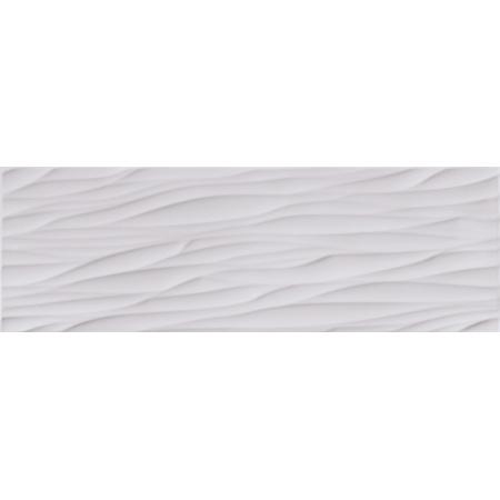 Opoczno Structure Pattern Grey Wave Structure Płytka ścienna 25x75x1,05 cm, szara błyszcząca OP365-008-1