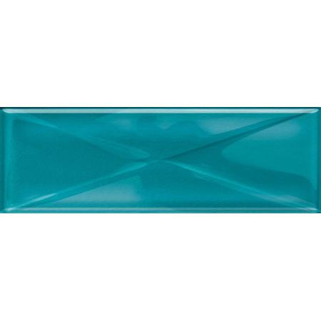 Opoczno Universal Glass Decorations Glass Azure Inserto New Listwa dekoracyjna szklana 9,9x29,7x0,8 cm, turkusowa błyszcząca OD660-102