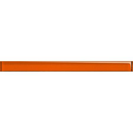 Opoczno Universal Glass Decorations Glass Orange Border New Listwa dekoracyjna szklana 4,8x60x1 cm, pomarańczowa błyszcząca OD660-001