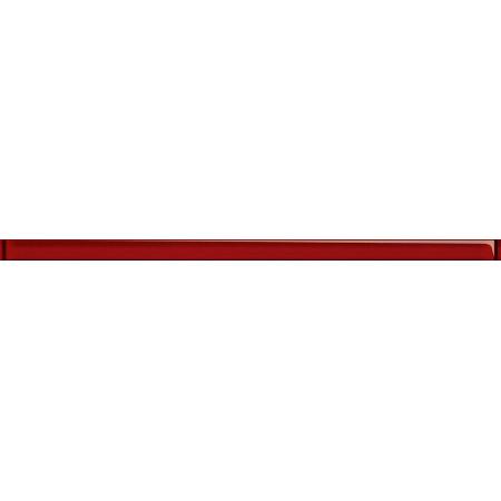 Opoczno Universal Glass Decorations Glass Red Border New Listwa dekoracyjna szklana 2x45x0,8 cm, czerwona błyszcząca OD660-079