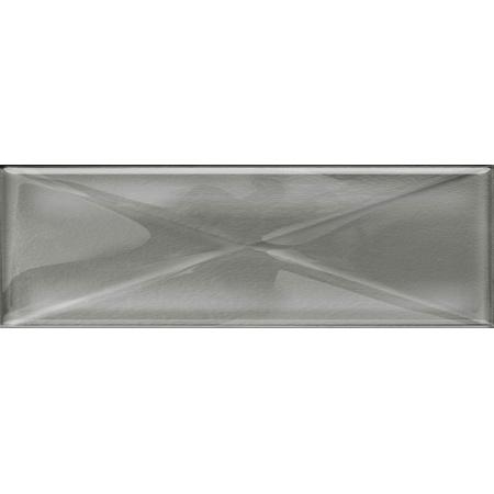 Opoczno Universal Glass Decorations Glass Silver Inserto New Listwa dekoracyjna szklana 9,9x29,7x0,8 cm, srebrna błyszcząca OD660-105