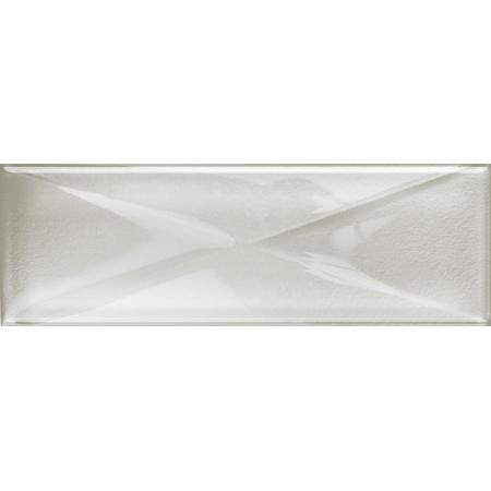 Opoczno Universal Glass Decorations Glass White Inserto New Listwa dekoracyjna szklana 9,9x29,7x0,8 cm, biała błyszcząca OD660-104