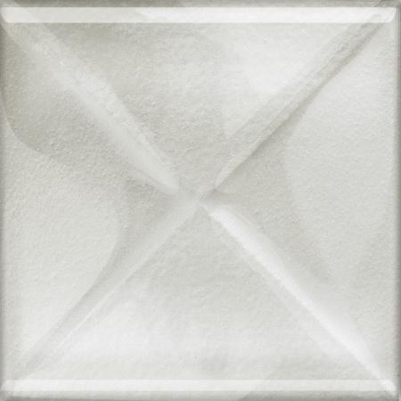 Opoczno Universal Glass Decorations Glass White Inserto New Listwa dekoracyjna szklana 9,9x9,9x0,8 cm, biała błyszcząca OD660-112