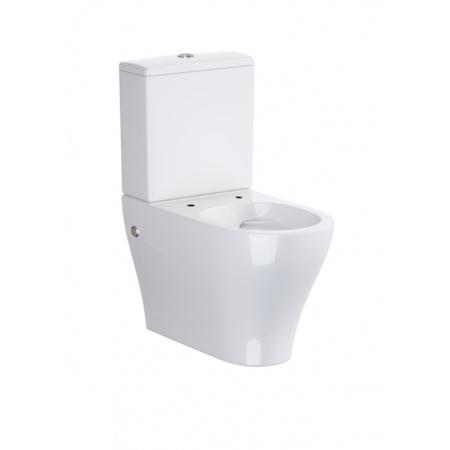 Opoczno Urban Harmony Muszla klozetowa miska WC kompaktowa stojąca bezkołnierzowa CleanOn, biała OK580-009-BOX