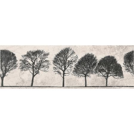 Opoczno Willow Sky Inserto Tree Listwa dekoracyjna 29x89x1,1 cm, szara matowa ND039-006
