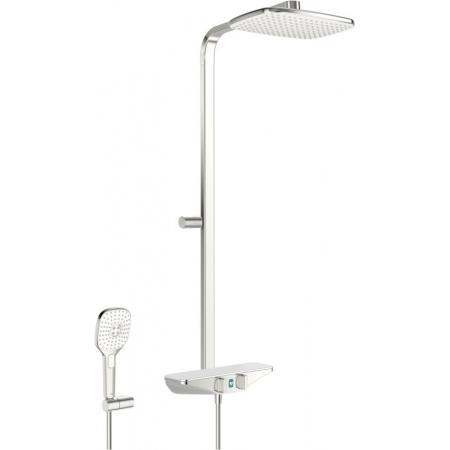 Oras Esteta Wellfit Zestaw prysznicowy natynkowy termostatyczny z deszczownicą chrom/biały 7592U-11