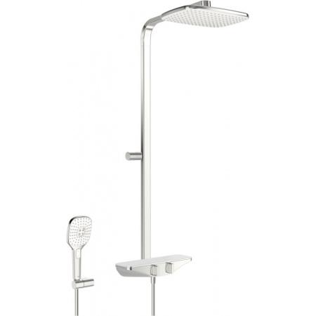 Oras Esteta Zestaw prysznicowy natynkowy termostatyczny z deszczownicą chrom/biały 7590U-11