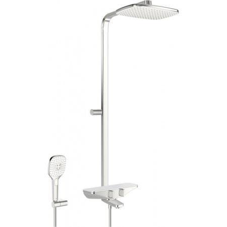 Oras Esteta Zestaw prysznicowy natynkowy termostatyczny z deszczownicą chrom/biały 7591U-11