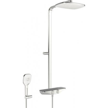 Oras Esteta Zestaw prysznicowy natynkowy termostatyczny z deszczownicą chrom/szary 7590U-15