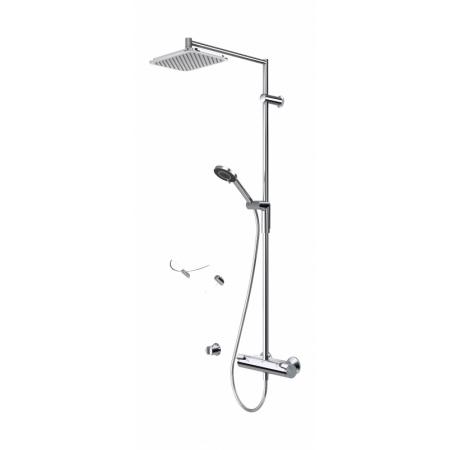 Oras Optima Zestaw prysznicowy natynkowy z baterią termostatyczną i deszczownicą, chrom 7192U