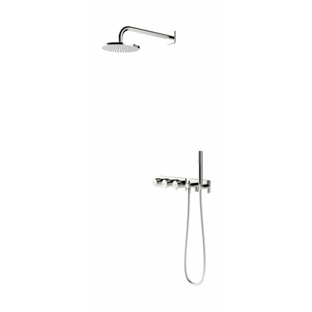 Oras Signa Zestaw prysznicowy podtynkowy z deszczownicą 230/12V chrom 2272