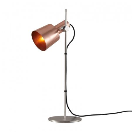 Original BTC Chester Lampa stołowa 57x17 cm IP20 E27 GLS, miedziana, satynowa, stalowa FT580SC