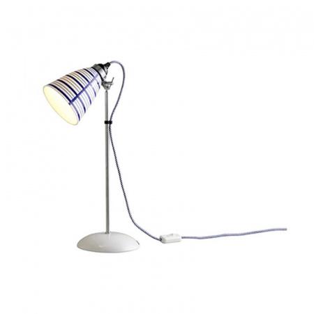 Original BTC Circle Line Lampa stołowa 57x12 cm IP20 E27 GLS, biała, niebieska FT198CLB