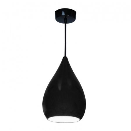 Original BTC Drop One Lampa wisząca 37x23 cm IP20 E27 GLS, czarna połysk FP490K