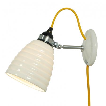 Original BTC Hector Bibendum Kinkiet 21,5x13 cm IP20 E27 GLS, biały, żółty FW504WY