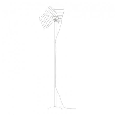 Original BTC Hector Bibendum Lampa stojąca 137x28 cm IP20 E27 GLS, biała, czarna FF497WK