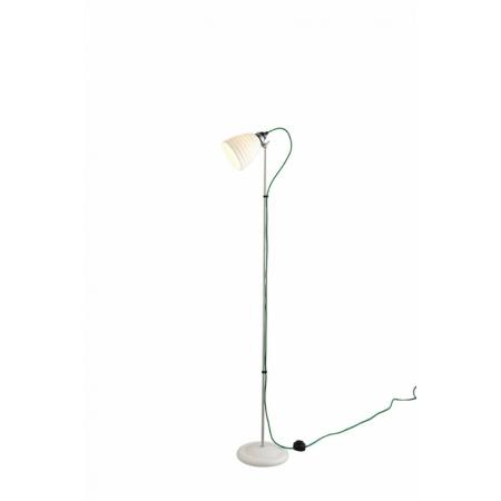 Original BTC Hector Bibendum Lampa stojąca 137x28 cm IP20 E27 GLS, biała, zielona FF497WG