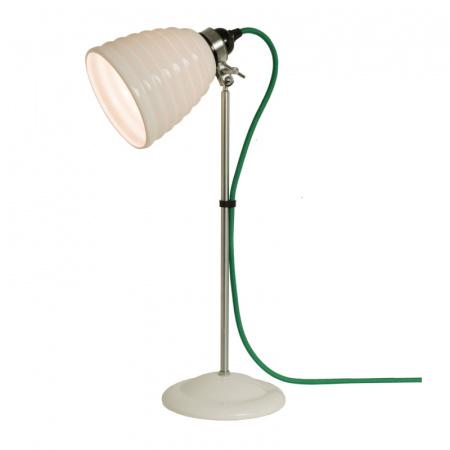 Original BTC Hector Bibendum Lampa stołowa 57x13 cm IP20 E27 GLS, biała, zielona FT491WG